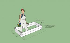 Wooden Raised Garden - Sketchup Plans