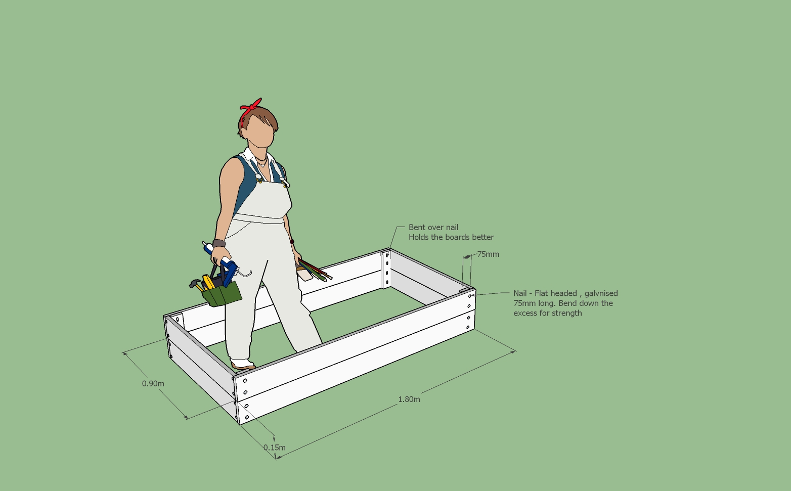 Instructions for Making Raised Gardens From Fence Palings - Linwood